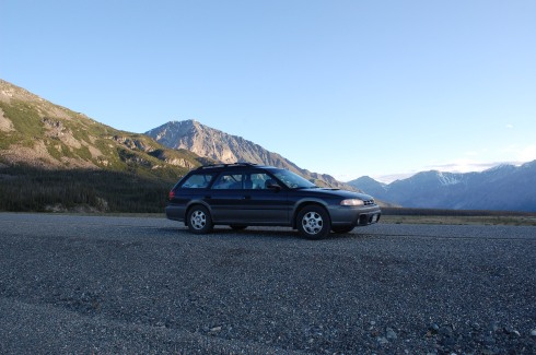 Subaru Glamor Shot, Kluane Lake National Park, Yukon