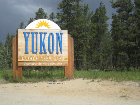 Yukon Territory welcome sign, Yukon